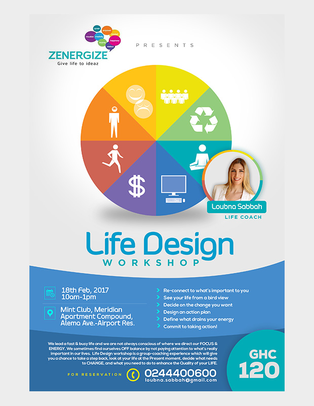 life design event flyer loubna sabbah
